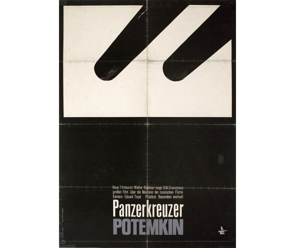 "Battleship Potemkin, German A1 poster by Hans Hillmann (1965), Rialto Films, 23"" x 32"""
