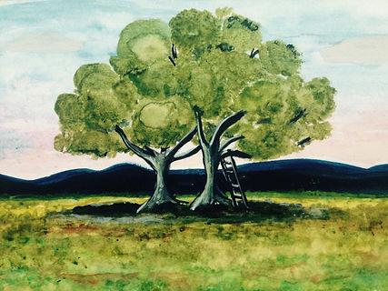 Maleri som symbol på at to mennesker mødes - symbol på terapiens essens.
