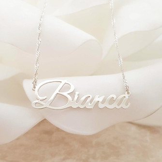 Sterling Silver nameplate pendant