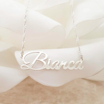 Sterling Silver nameplate