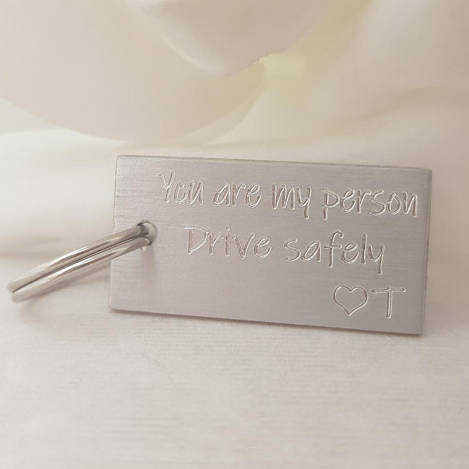 Engraved key ring