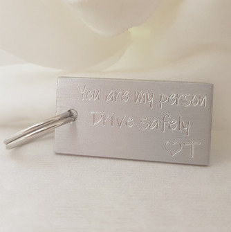 Engraved key ring