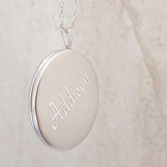 Sterling silver engraved locket