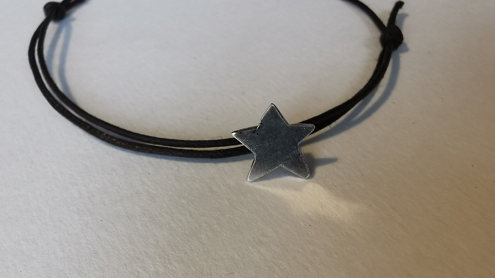 Small Star Charm On Leather