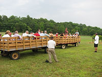 Wagon tour of University of Maryland, Central Maryland Research and Education Center in Upper Marlboro, MD