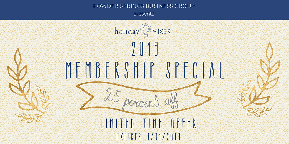 25% Off Membership Holiday Special (1)