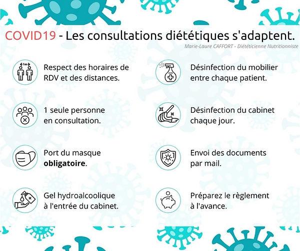 COVID19 - Les consultation diététiques s
