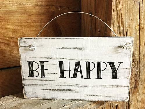 Türschild BE HAPPY