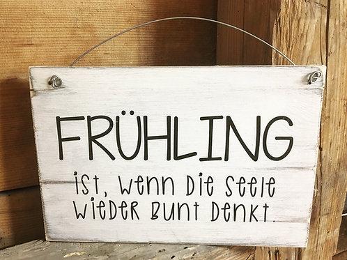 Holzschild FRÜHLING