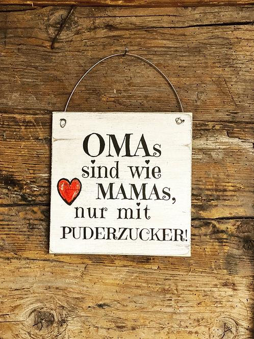 Holzschild OMA's