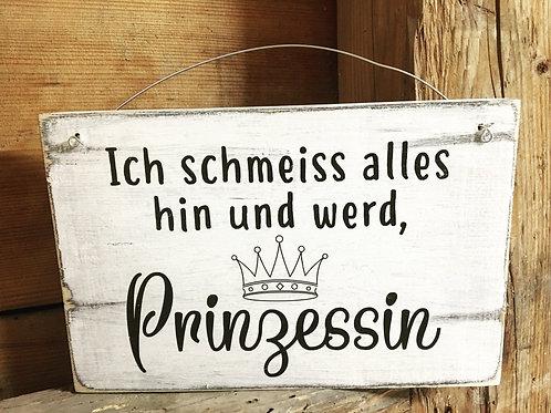 Holzschild PRINZESSIN