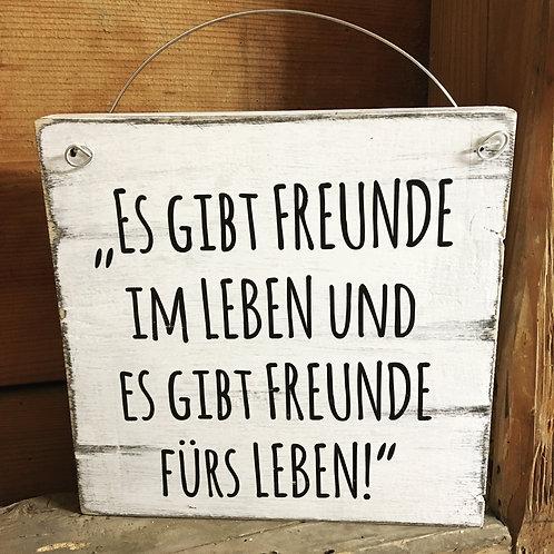 Holzschild FREUNDSCHAFT