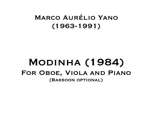 PRINT - YANO, Modinha for Oboe, Viola (Bassoon) and Piano