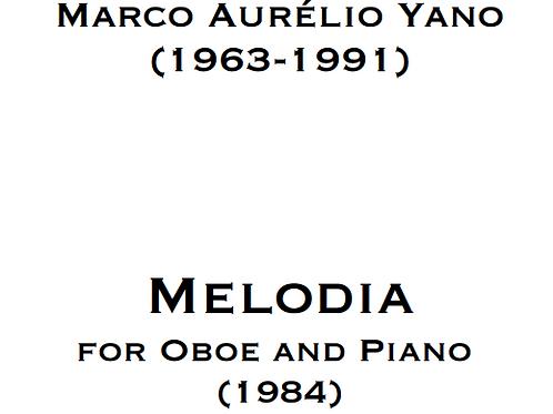 PRINT - YANO, Melodia for Oboe and Piano (1984)