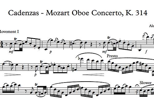 Klein Cadenzas for Mozart Oboe Concerto, K. 314
