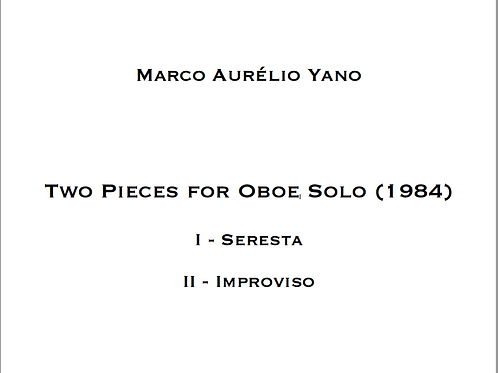 PDF - YANO, Two Pieces for Solo Oboe