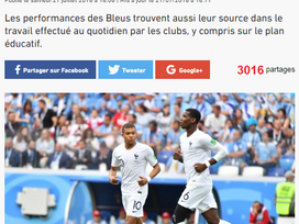 Tribune du Fondaction du Football, lequipe.fr