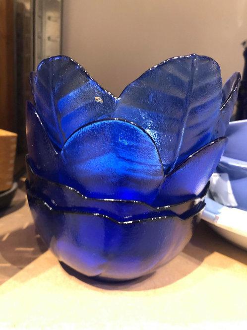 Blå glasskåle 4 stk