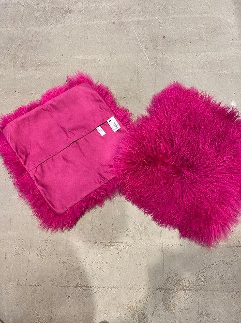 Pudebetræk pink pels pr stk