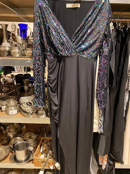 Palliet kjole sort