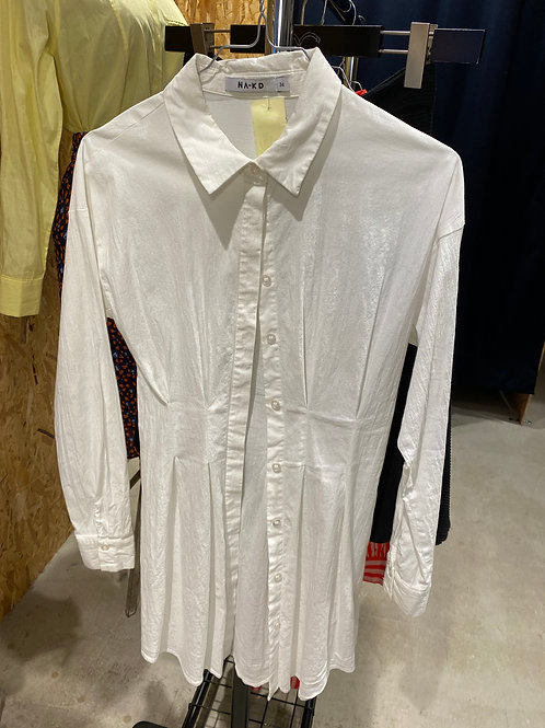 Na-Kd hvid skjortekjole