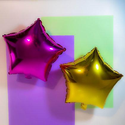 """Balão foil estrela 9"""" - Embalagem com 5 unidades"""