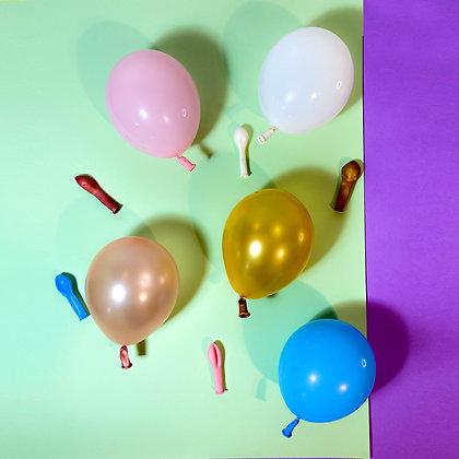 """Balão 5"""" Latex Embalagem com 5 unidades"""