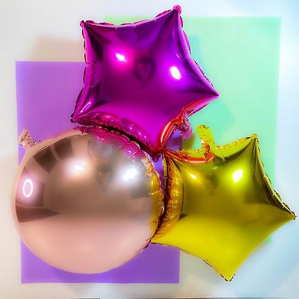 """Balão redondo 20"""" - Embalagem com 5 unidades"""