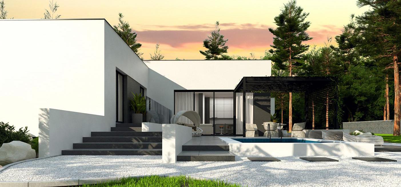 Maison ossature bois contemporaine moderne LEILA -4