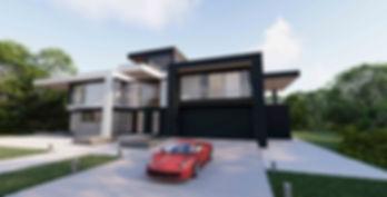 Maison cubique moderne