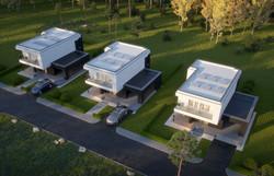 Maya Maison contemporaine moderne toit p