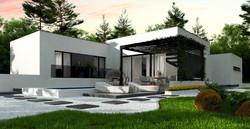 Maison ossature bois contemporaine moderne LEILA -2