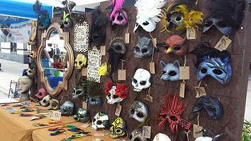 fire masquerade mask