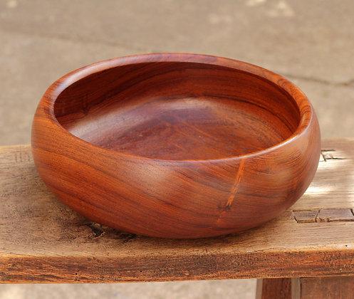 Grand bol laqué en bois Kashibachi