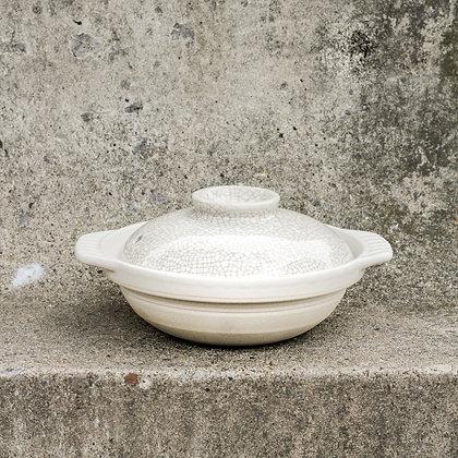 Donabe en céramique blanche
