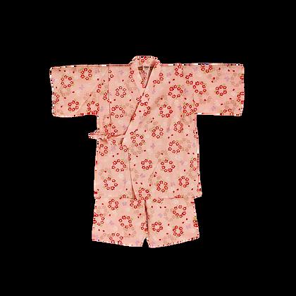 "Jinbei à motif ""fleurs"" - 120 cm"