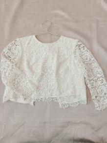 Long Sleeve Lace Bridal Top