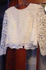 Lace Bridal Top with Sleeves