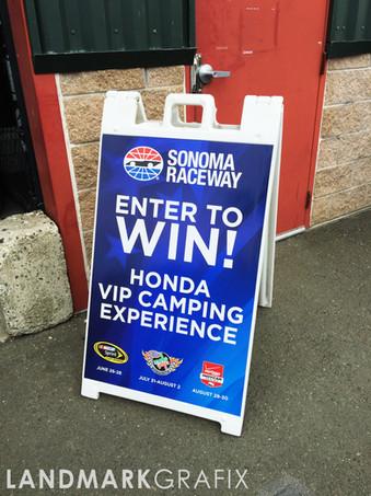Sonoma Raceway A Frame Wrap