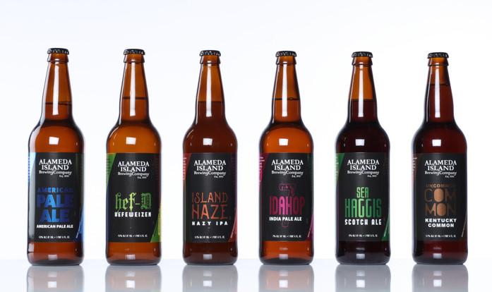 Alameda Island Brewing Company Labels