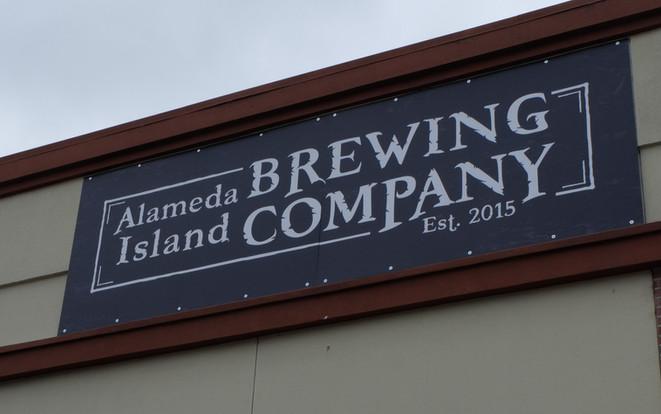 Alameda Island Brewing Company Outdoor Signage