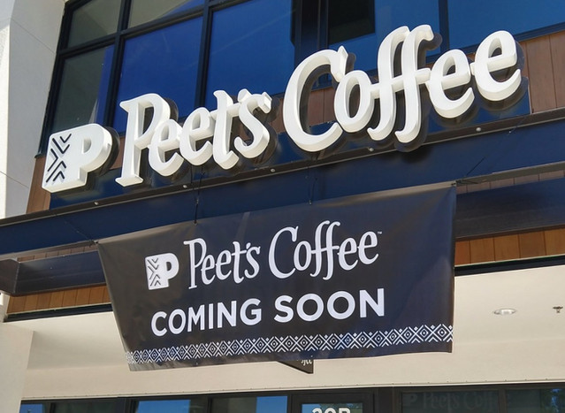 Peets Coffee Signage