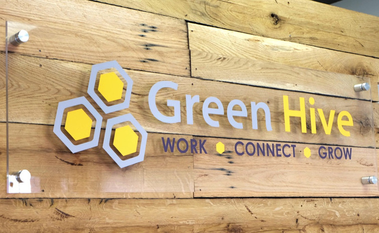 Green Hive Signage
