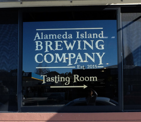 Alameda Island Brewing Company Window Decal