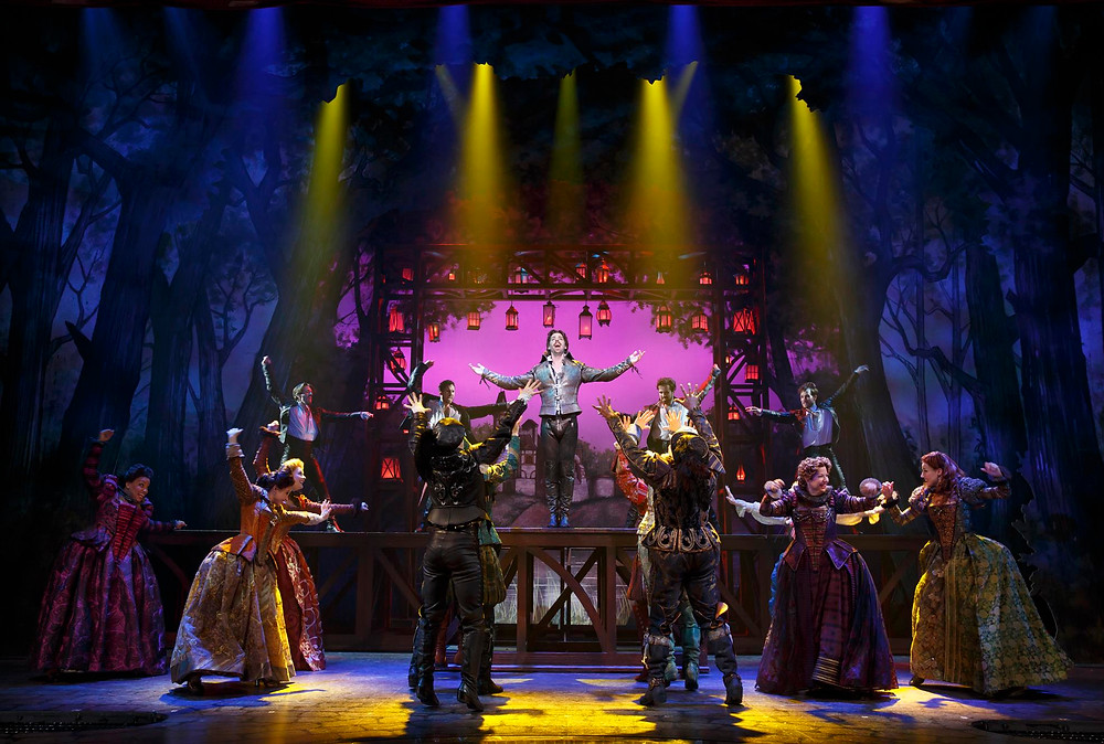 Christian Borle as Shakespeare & the cast of 'Something Rotten!' Photo: Joan Marcus