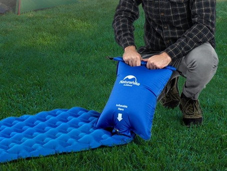 Worlds smallest air mattress pump