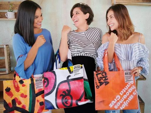 """""""Hecha bolsa"""" un emprendimieto de reciclaje artístico y solidario"""