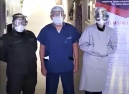 Jóvenes bolivianos innovadores tienen listos barbijos de alta tecnología para médicos