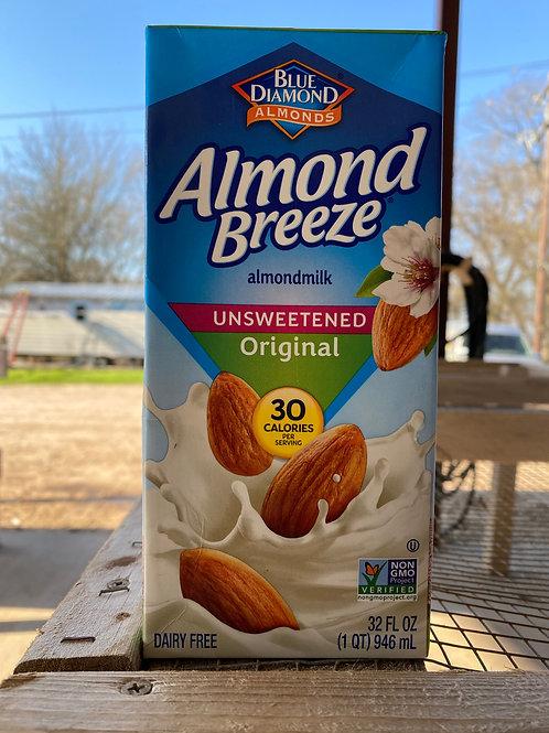 Almond Milk, Unsweetened, 32oz.