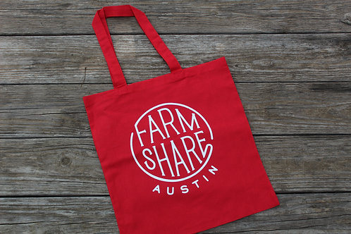 Farmshare Tote Bag, Lightweight, Red